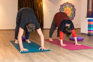 Students doing yoga at Uckfield Yoga Studio